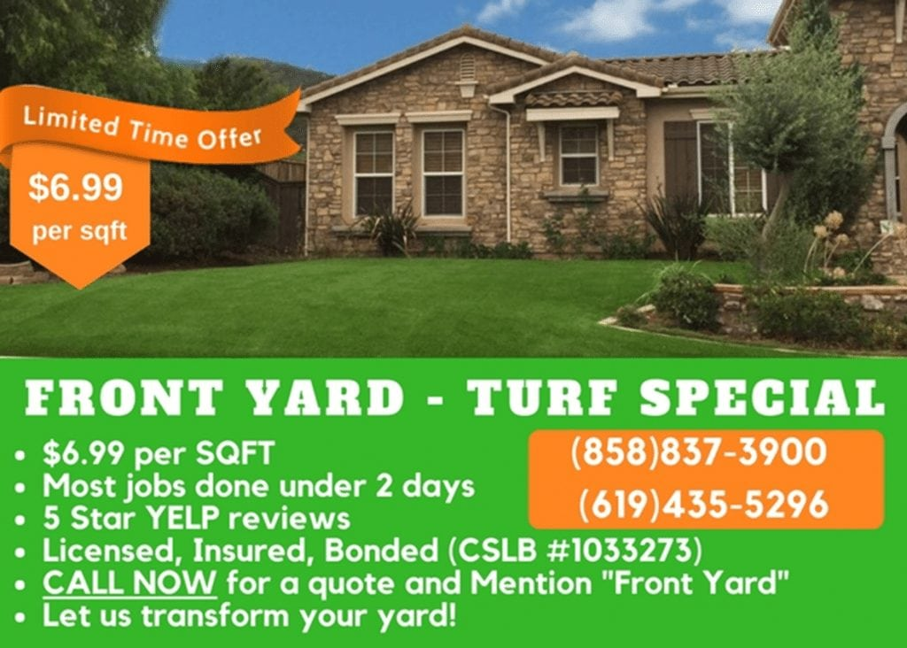 Specials - Coronado Best Turf, Artificial Grass Landscapes, San Diego